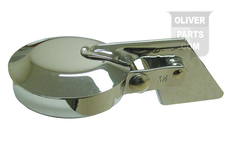 Chrome Plated Rain Cap Fits Oliver Super 66, Super 77, Super 88, 660, 770, and 880 Gas or Diesel. 3-1/2\