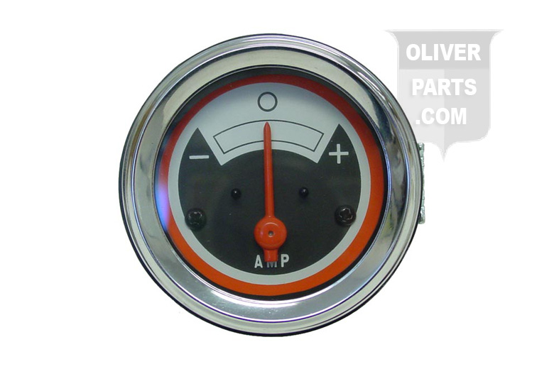 Amp Gauge For Oliver:1550, 1555, 1650, 1655, 1750, 1755, 1850, 1855, 1950, 1950t, 1955, 2050, 2150, and White 2-62, 2-78, and 4-78. Replaces Oliver PN#:158583A Has Black Face Does Not Say Oliver.