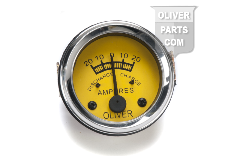 Amp Gauge 20-0-20 For Oliver: OC3, OC4, OC6, Super 44, Super 55, 66, Super 66, 77, Super 77, 88, Super 88, 440, and 660. Will also fit 60, 70, and 80 But is not original face color. Has Yellow face and Oliver Name on Gauge. Replaces: Oliver PN# IHA7353. Comes with a 6 volt light built in to the gauge.