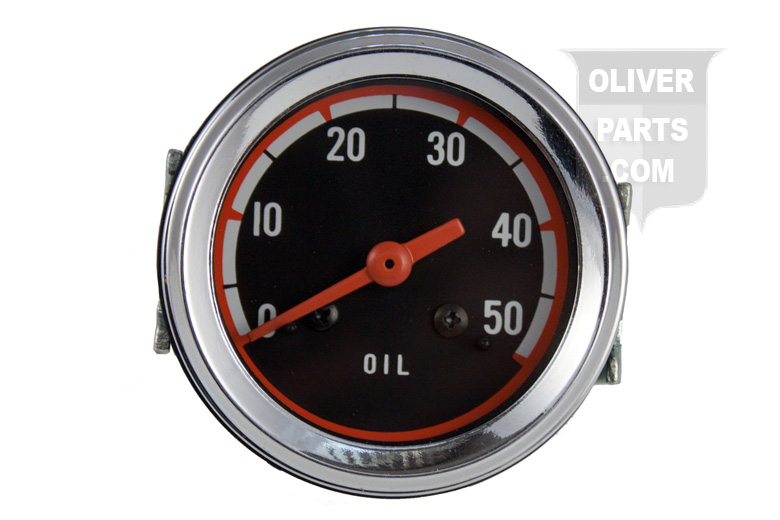 0-50 PSI Oil Pressure Gauge For Oliver:1550, 1555, 1650, 1655, and 1850. White: 2-62, 2-78, and 4-78