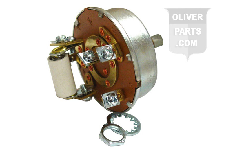 Combination Starter and Light Switch. Serviceable for Oliver: 66, Super 66, 77, Super 77, 88, and Super 88. Five Screw Type Terminals. Replaces Oliver PN#: 1k7354 and 1k7354a.