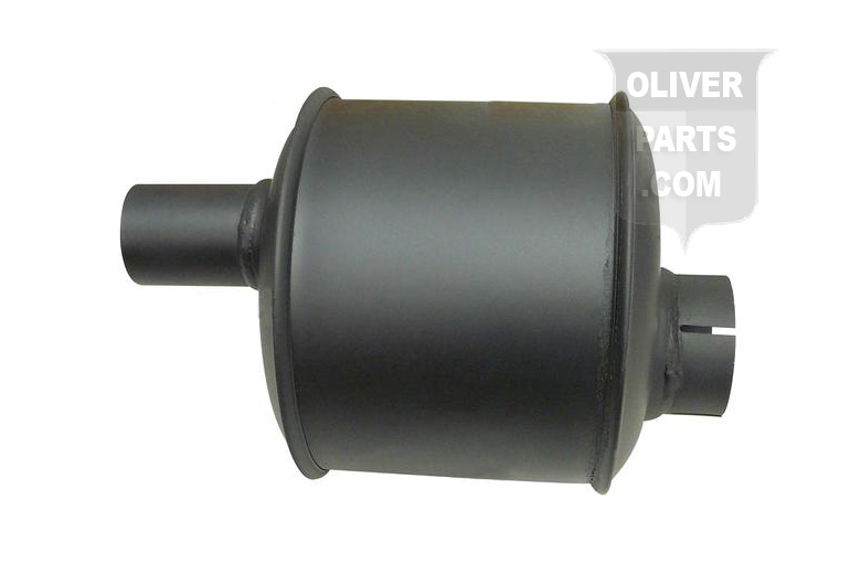 Vertical Muffler For Oliver: 88. Outlet 1-3/4\, Length 10-1/4\, Body 6-3/8\. Replaces Oliver PN#: 1k452, ol-4, k452.