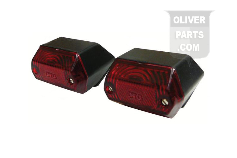 Red Tail Light Set For Oliver: 1250A, 1255, 1265, 1270, 1355, 1365, 1370, 1465, 1470, 2-50, 2-60.
