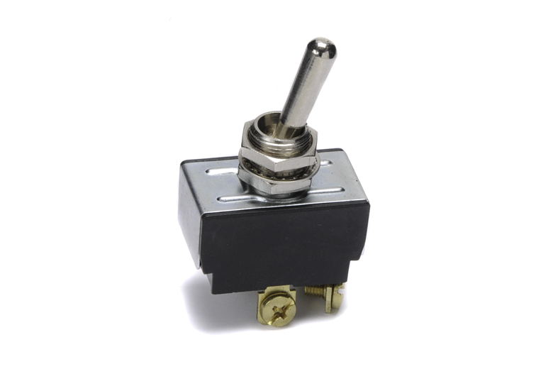 This switch has 4 poles. Two separate incoming and two separate outgoing.  Very Heavy duty switch. 20 amp 125 volt, two position On-Off.  Good switch for lighting or anything that draws a lot of Power.