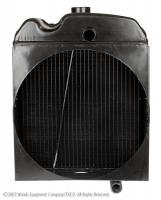 Gas and diesel tractors with non-pressurized cooling systems use this radiator.