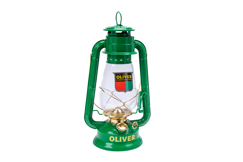 This is a real working lantern. 12\ High and 5.24\ wide at the base.  Burns Kerosene, Standard Cleat lamp oil or citronella. Citronella is for outdoor use only.