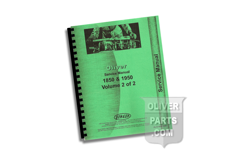 Service Manual - Oliver 1850 & 1950 Volumes 1 and 2