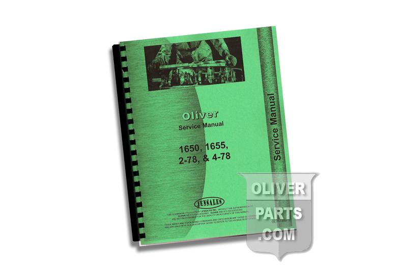 Service Manual - Oliver 1650, 1655, 2-78, & 4-78