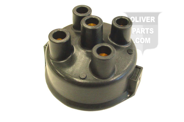 DISTRIBUTOR CAP --- Oliver Applications: SUPER 44, 440, 60, SUPER 55, 550, 66, SUPER 66, 660, 70, 77, SUPER 77, 770, 88, 880, 90, 99, 1600, 1800 (UP TO SN 124395), H6, OC3 --- DELCO REMY DISTRIBUTORS MUST HAVE CLIP HELD CAP THRU 1963