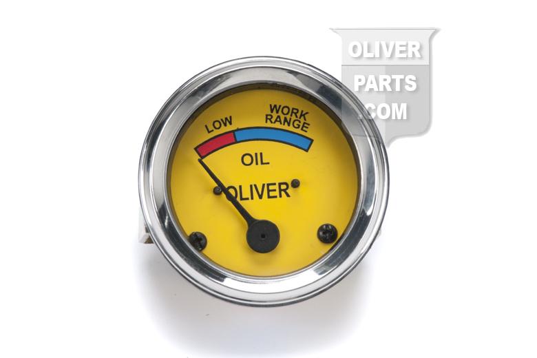 Oil Pressure Gauge - Mechanical type - Oliver Super 44, Super 55, 66, Super 66, 77, Super 77, 88, Super 88, 440, 660