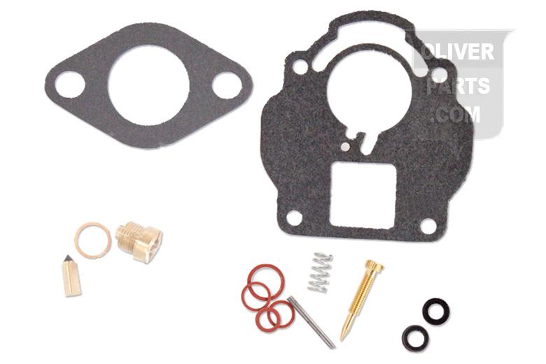 Economy Carburetor Repair Kit (For Carter Carburetors) Fits Oliver: Super55, 66&Super 66, With Aluminum Upper Carburetor Bodies. Carburetor Numbers: UT, UT2612s, UT2418S Economy Carburetor Repair Kits Contain: Needle&Seat, Float Lever Pin, Seal, Gaskets, and Instructions.