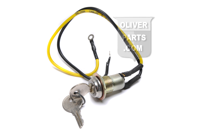 2 wire ignition switch with keys for Oliver 77 and 88 models using push button start switch.