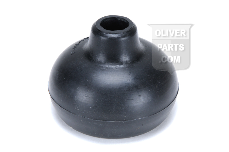 If your Oliver transmission linkage has gotten sticky, your shift boot may be allowing moisture into the transmission. It is a good idea to replace this Oliver shift boot.   Gear shift lever boot for Oliver Super 55, 60, 66, 70, 77, 80, 88, Super 66, Super 77, Super 88, 90, 99, Super 99, 550, 660, 770, 880, 1550, 1555, 1600, 1650, 1655, 1750, 1755, 1850, 1855, 1950, 1955, 2050, 2150, 2255, HG, OC-3, OC-4; tractors. 1 7/8 BOTTOM I.D. - 1/2 HOLE DIAMETER