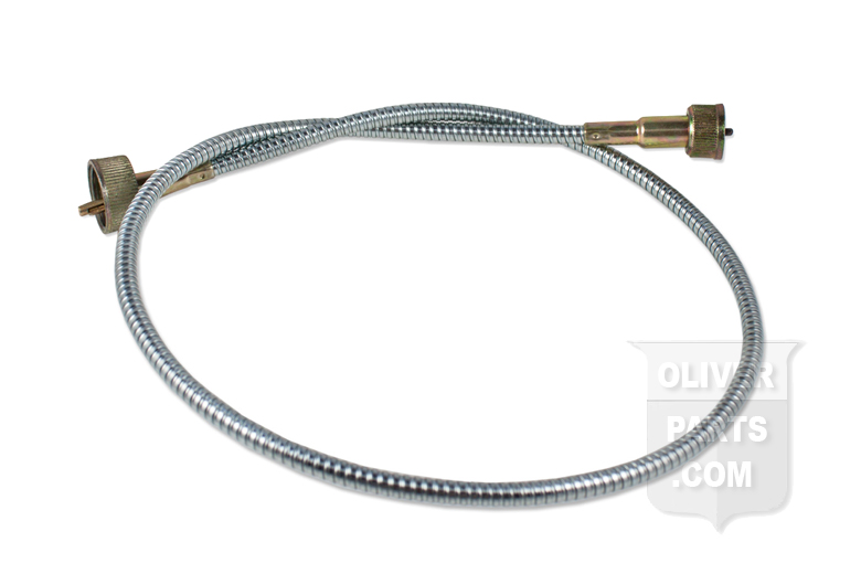 This tachometer cable is for Oliver Super 55 & 550. It's 33 1/2 long with a metal sheath and replaces Oliver PN# 1ES5231.