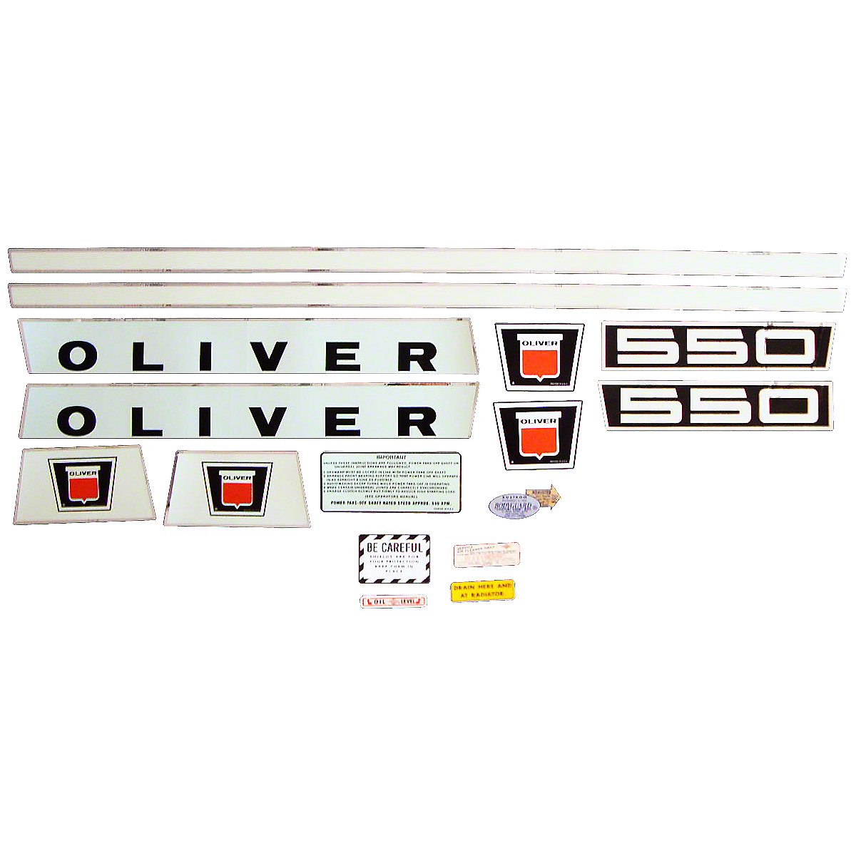 Decal Set For Oliver 550.