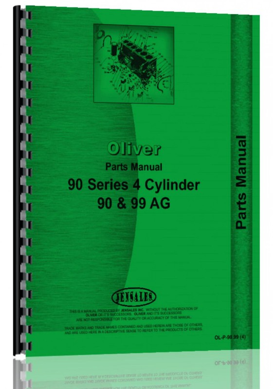 Parts Manual - Oliver 90, 99 Late Model