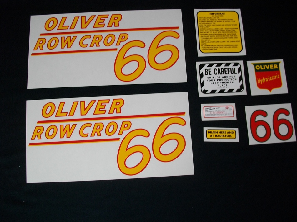 Oliver 66 Rowcrop: Mylar Decal Set