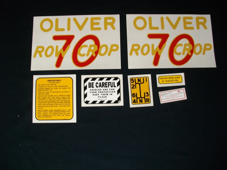 Oliver 70 Rowcrop: Mylar Decal Set