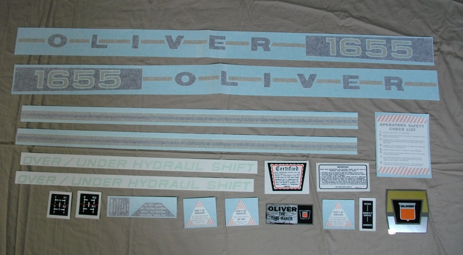 1655 Oliver Decal Set