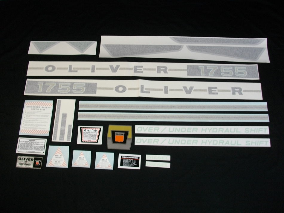1755 Oliver Diesel Decal Set