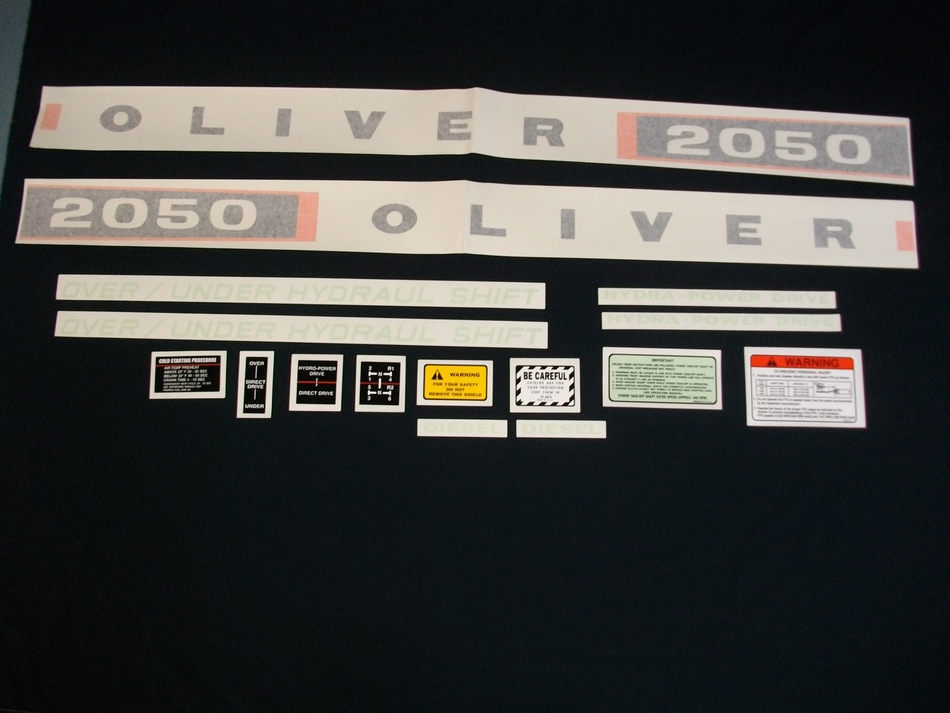 2050 Oliver Diesel Decal Set