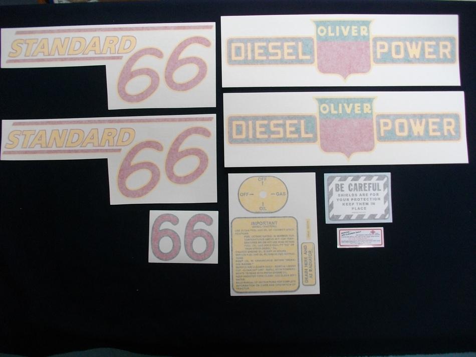 66 Standard Diesel Red # (Vinyl Decal Set)