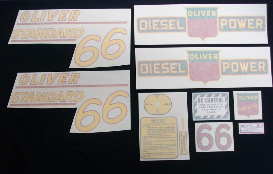 66 Standard Diesel Yellow # (Vinyl Decal Set)