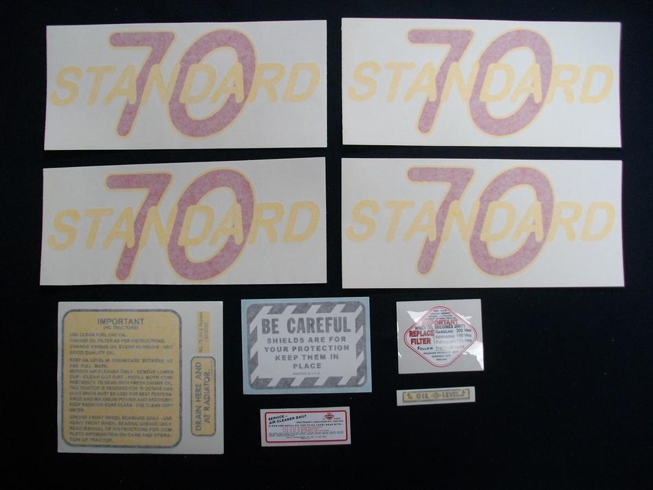 70 Standard (Vinyl Decal Set)