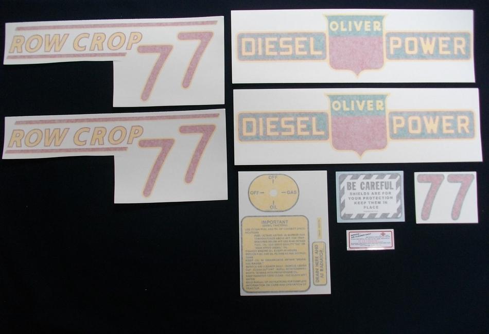 77 Row Crop Diesel Red # (Vinyl Decal Set)