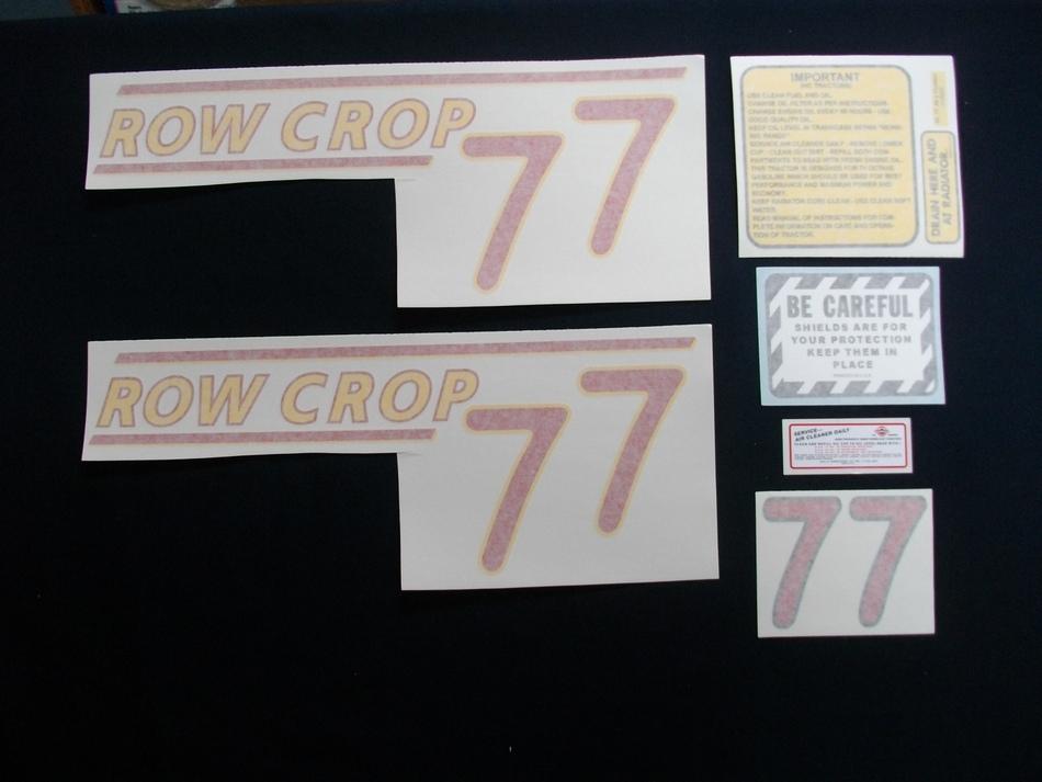 77 Row Crop Red # (Vinyl Decal Set)