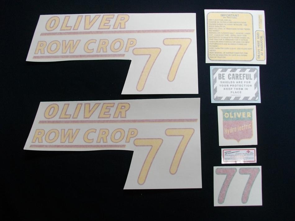 77 Row Crop Yellow # (Vinyl Decal Set)