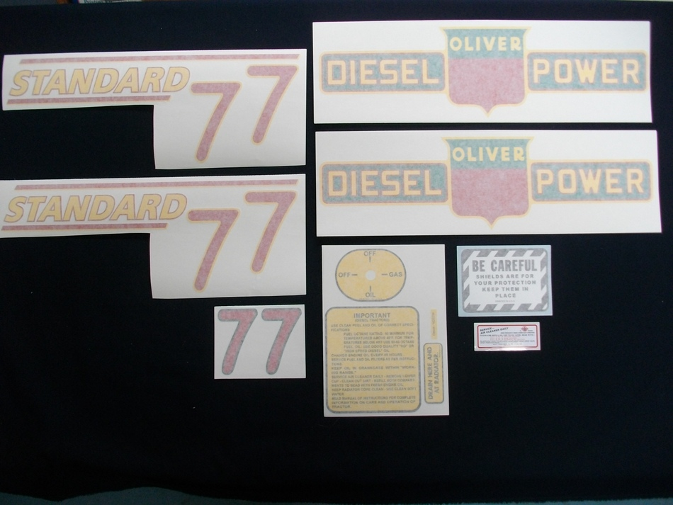 77 Standard Diesel Red # (Vinyl Decal Set)