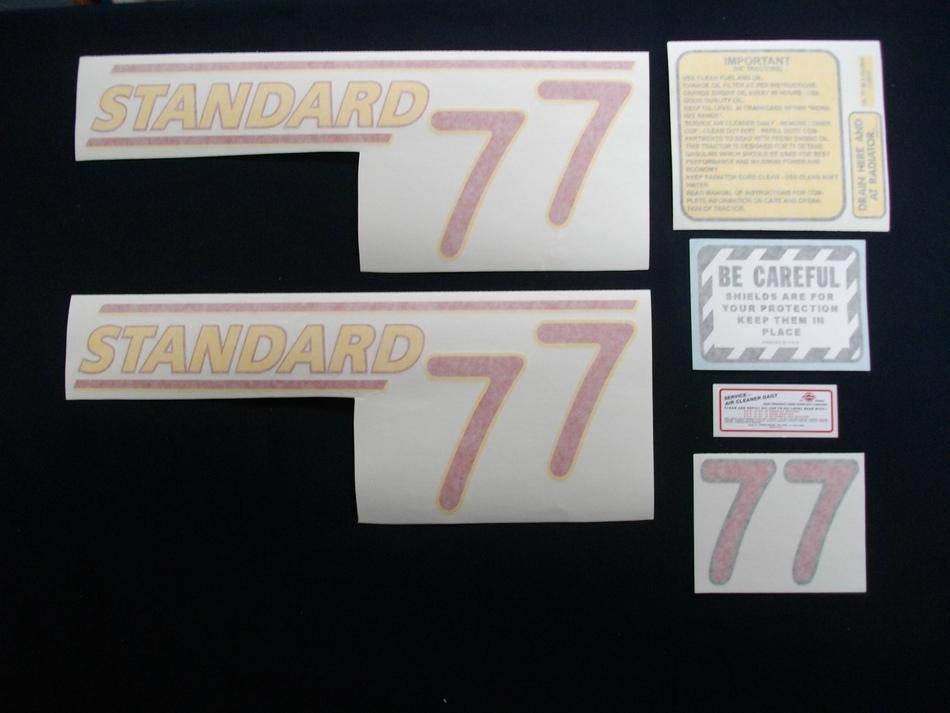 77 Standard Red # (Vinyl Decal Set)