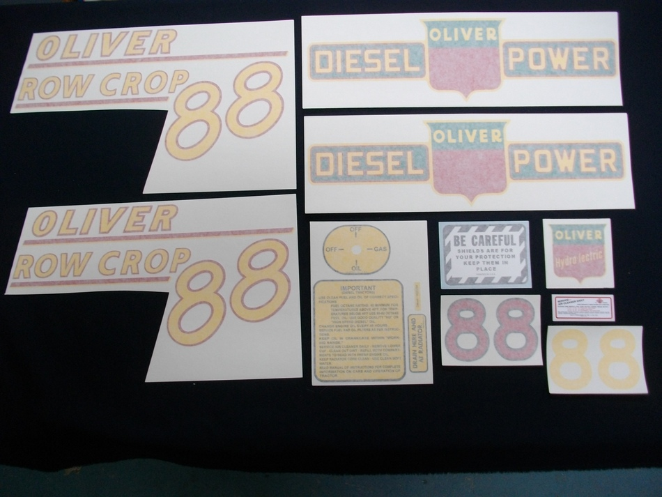 88 Row Crop Diesel Yellow # Vinyl Decal Set