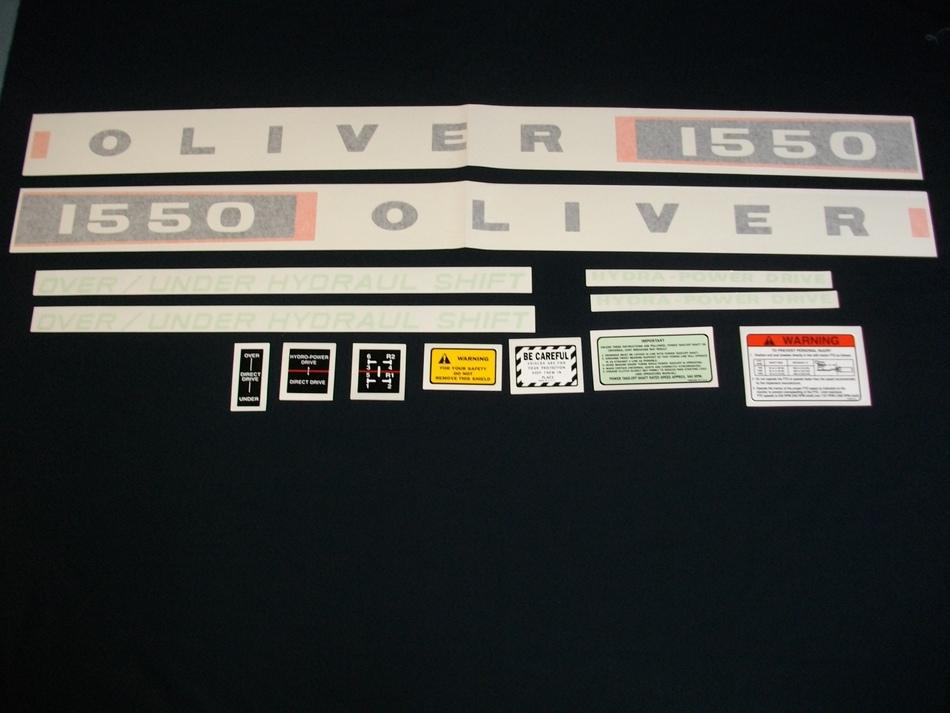 Oliver 1550 (Vinyl Decal Set)