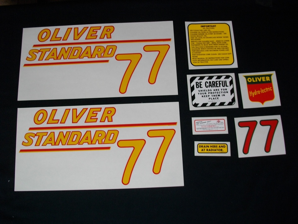 Oliver 77 Standard Yellow (Mylar Decal Set)