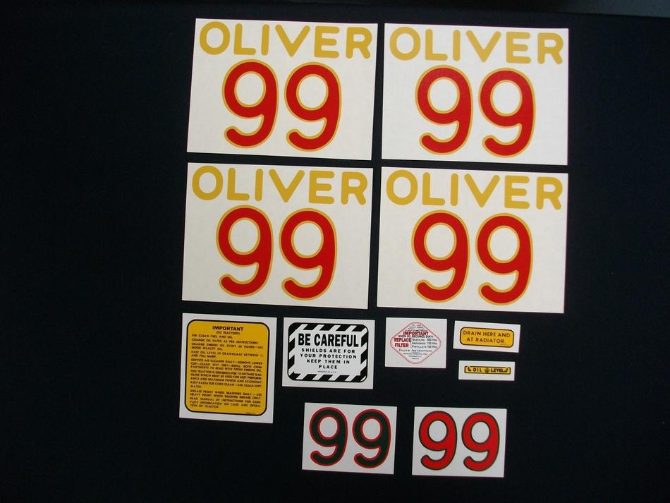 Oliver 99 (Mylar Decal Set)