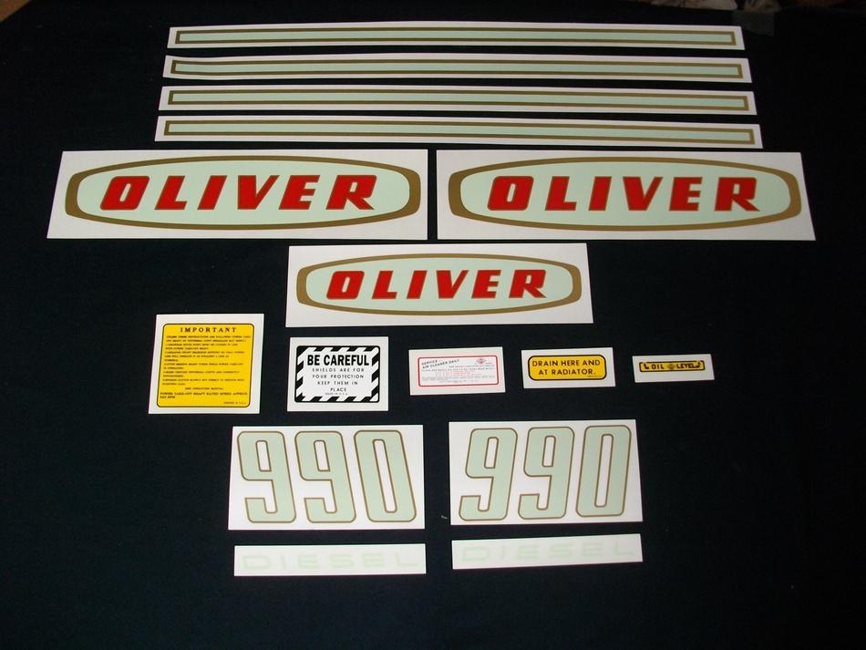 Oliver 990 Diesel (Mylar Decal Set)