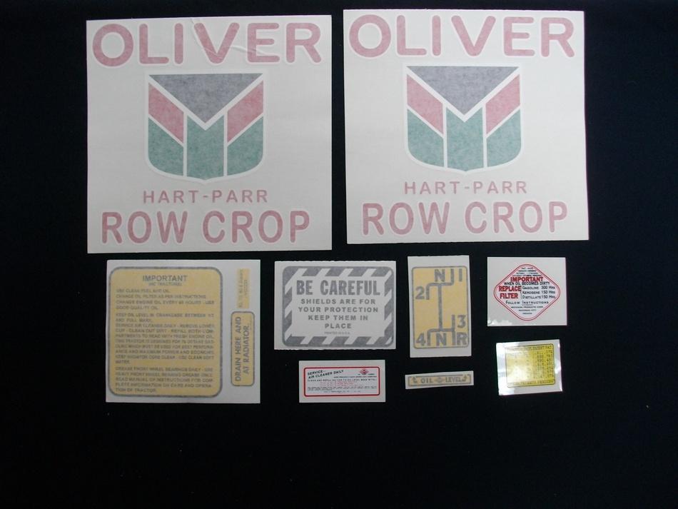 Oliver Hart Parr 70 Row Crop (Vinyl Decal Set)