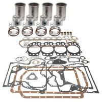 This is a major engine overhaul kit. It includes pistons, rings, liners, gaskets, seals, bushings and bearings. Let us know what size bearings you need. The main bearings are available in standard, .010 and .020. The connecting rod bearings are available in standard, .010 and .020.