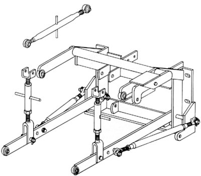hk 1678_518 3 point hitch adapter oliver 66, 77, 88, super 66, super 77, 660 oliver 77 wiring diagram at edmiracle.co