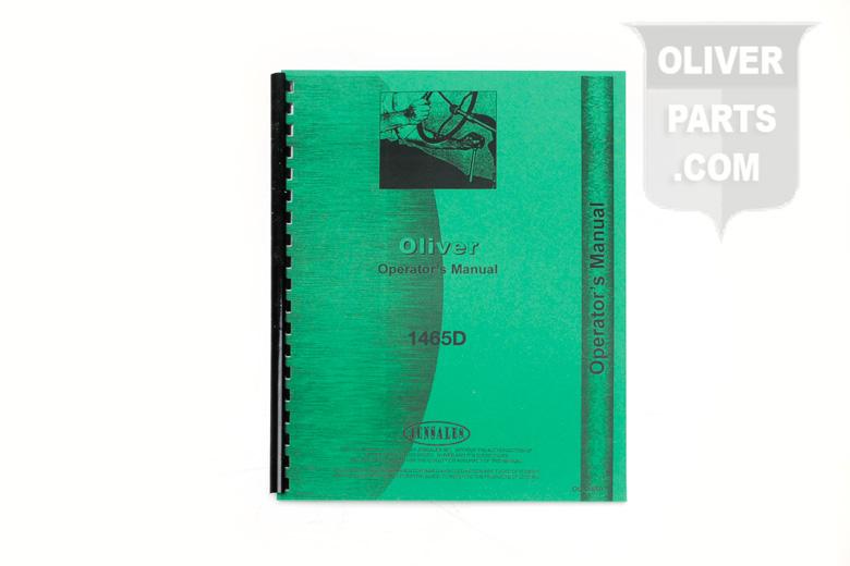 Operators Manaul - Oliver 1465D