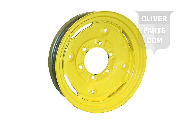 3X15 6 Lug Front Wheel For Oliver 66, Super 66, and 660. 3-1/4 Off Set, 4-9/16 Pilot, 3 Bolt Center to Center. 12 LBS.  Please check and measure your tractor closely because if this rim does not fit, we do not pay return shipping on rims.