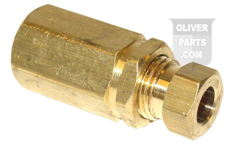 Brass Oil Gauge Fitting. 1/8 Pipe Thread to 1/4 Tube.