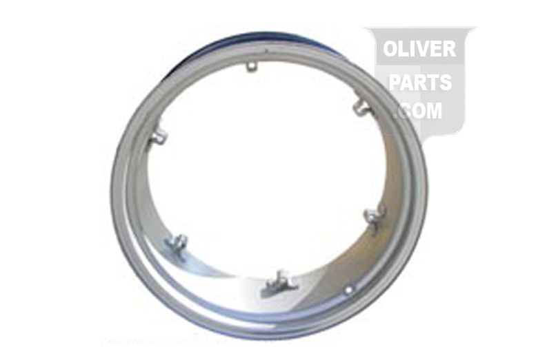 11X28 6 Loop Rear Rim For Oliver: Super 55 and up.  Please check and measure your tractor closely because if this rim does not fit, we do not pay return shipping on rims.
