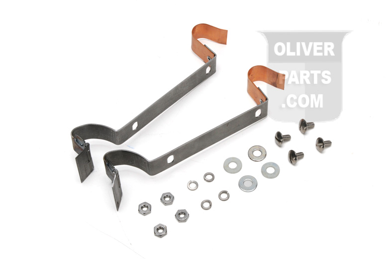 Oliver Super 55 Hinges For Center Hood Strip (must Be Welded To Hood And Nose) - Pair