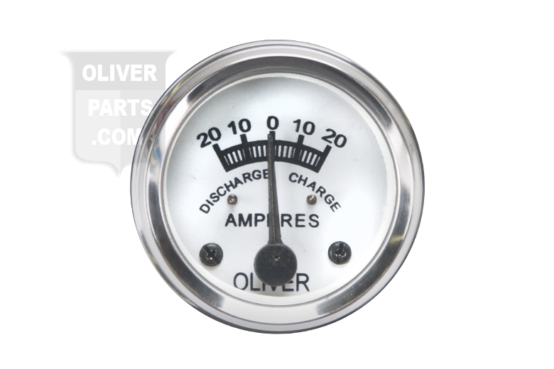 Amp Gauge - Oliver Tractor Super 55 Gas / Diesel  comes with a built in light bulb.