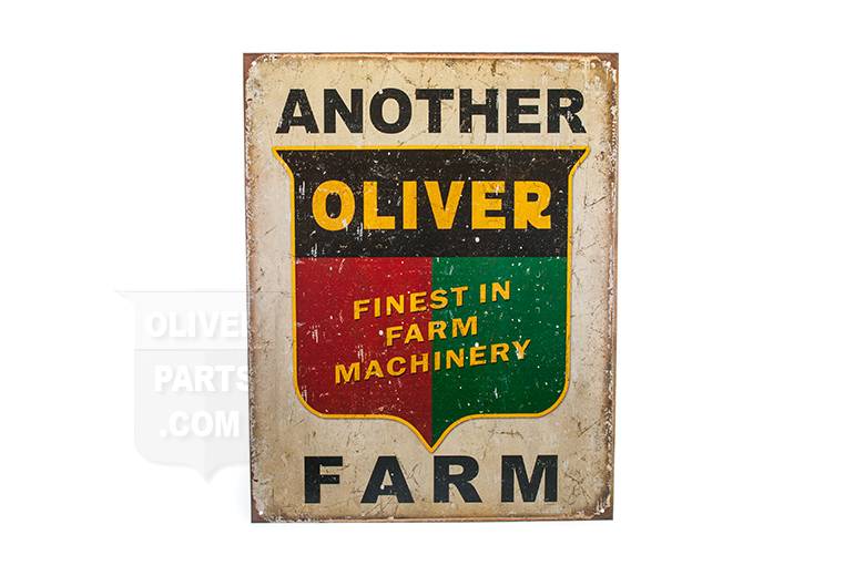 replica of a vintage Oliver sign!
