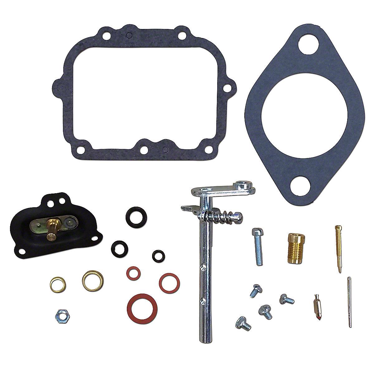 Basic Carburetor Repair Kit For Marvel Schebler Carburetors. Fits Oliver 1750, 1800 and 1850 All With Marvel Schebler Carburetor Numbers USX29, USX32-1, USX37, USX44. KIT CONTAINS: THROTTLE SHAFT, NEEDLE & SEAT, FLOAT LEVER PIN, CHOKE & THROTTLE SHAFT SEALS, NEEDLE VALVE, ADJUSTMENT SCREW, GASKETS & INSTRUCTIONS.