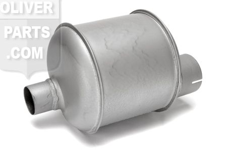 Muffler. Tractors: Oliver 66, 77, 88 (9\ length offset muffler).